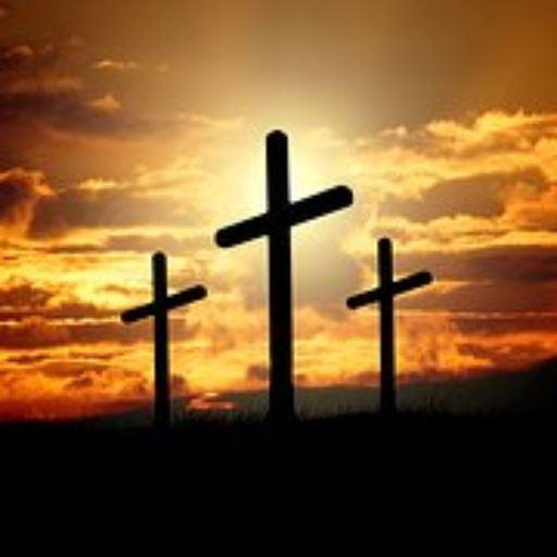 The Cross Scene at sunset